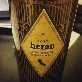 Beran zinfandel wine bottle shot