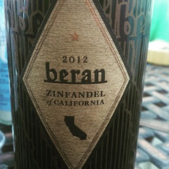 Beran wine label - close up shot