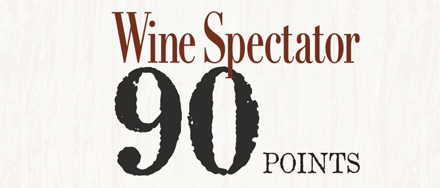Wine Spectator 90 points banner image